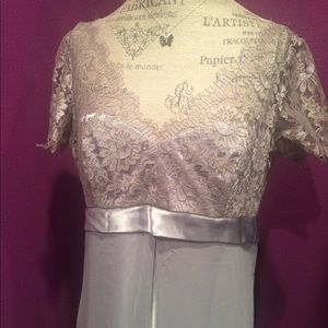 JS Collections Silver Dream Lace Dress